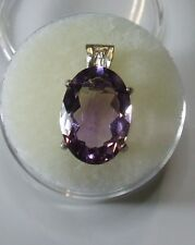 Natural earth-mined amethyst in a solid sterling silver pendant ...4.7 Carat Gem