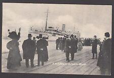 Postcard troopship HMT Rewa titled Outward Bound shipping