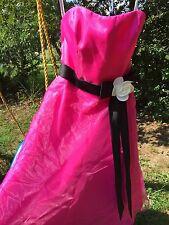 ALFRED ANGELO Party Doll Dress Taffeta Crinoline HOT PINK & BLACK Womens Size 0