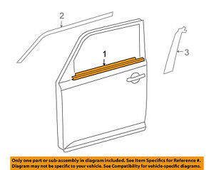 Scion TOYOTA OEM xB-Door Window Sweep-Belt Molding Weatherstrip Left 7572012820