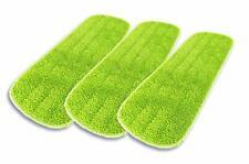 "Microfiber Mop Pad 3Pk - 17"" Wet and Dry Flat Mop Head Refills"
