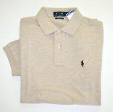 NWT Men's Ralph Lauren Short-Sleeve Polo Shirt, Beige, Classic Fit, L, Large