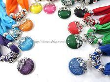 12pcs flower faux gem scarf jewelry necklace wholesale bulk scarf
