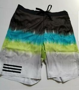 adidas NWT Mens Blended Stripe Swim Volley Trunks  Size XL 5ABM030