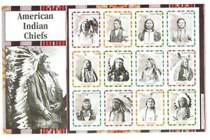 Grenada.  2004.  Complete mint sheet of 12 American Indian Chiefs.  MNH.