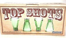 Bottle Top Shots Shot Glasses Set of Four By Barbuzzo Recycled Beer Bottle Glass