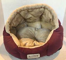 Armarkat Faux Fur Suede Soft Cozy Plush Mauve Beige Cat Dog Pet Domed Bed