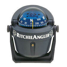 Ritchie Boat Marine Bracket Mount Angler Compass Ra-91 Gray With Green Light