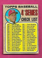 1968 TOPPS # 278 UNMARKED BASEBALL CHECKLIST NRMT-MT  CARD (INV# A9507)