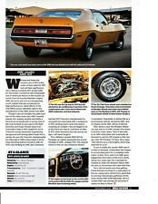 1971 AMC JAVELIN AMX 401/330 HP ~ GREAT ARTICLE / AD