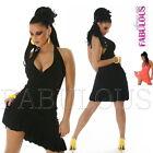 Sexy Sleeveless Halter Dress Size 8 10 Party Casual Salsa Latina Clubwear S M