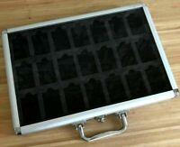 Zippo Lighter Storage Aluminium Collection Display Box Case 42 Pieces Acrylic
