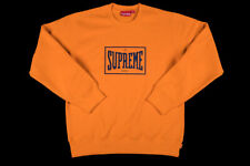 SUPREME WARM UP CREWNECK ORANGE SIZE LARGE SS19 PULLOVER CDG RED BOX LOGO L