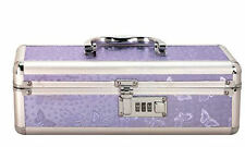 Lockable Make Up Storage Case Medium Purple Lilac Toy Chest Private Combination