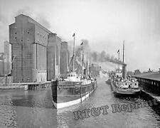 Photograph Steamship Schuylkill & Bethlehem Buffalo New York Year 1910 8x10