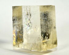 "2.3"" Clear Optical Calcite Crystal Sparkling Iceland Spar Mineral Stone - Brazil"