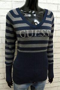 GUESS Donna Maglione Pullover Taglia M Cardigan Maglia Slim Felpa Woman Sweater