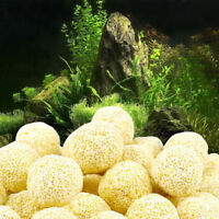 100Pcs Aquarium Porous Ceramic Filter Media Net Bag Biological Ball Fish Tank