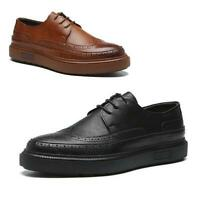 New Men's Brogue Oxfords Formal Dress Casual Faux Leather Wing Tip Wedding Shoes