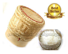Size 3.0 inch ticky Rice Bamboo Basket Thai Lao Food Cooking + Gift