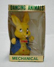 Plastic Yellow Easter Bunny Mechanical Dancing Animals In Original Box