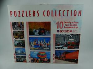 Puzzlers Collection 10 Deluxe Jigsaw Puzzles - 6750 Piece - Brand New