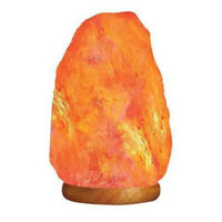 HemingWeigh Natural Himalayan Rock Salt Lamp 4- 6 lbs with Wood Base