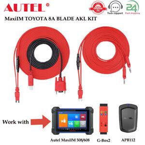 Autel MaxiIM TOYOTA 8A BLADE AKL Non-Smart Key All Keys Lost Adapter Fit G-BOX2
