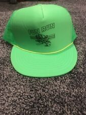 Fun Run Men's Neon Green Mesh Snapback Baseball Cap Hat