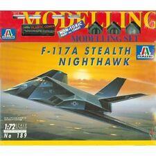 F-117a Stealth Nighthawk-ITALERI 189, M 1:72 incl. colori, pennello, colla
