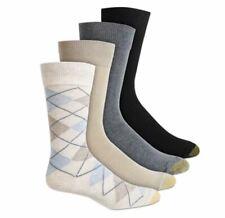 GOLD TOE Men's 4 Pack Cotton Blend Argyle Dress Socks, 10-13