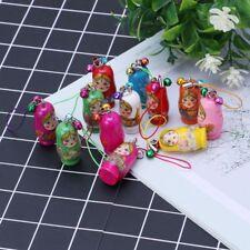 Cute Russian Nesting Dolls Matryoshka Doll Keychain Phone Hanger Bag Gifts New