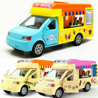 Fast Food Ice Cream Truck 1:32 Scale Car Model Diecast Gift Toy Vehicle Kids