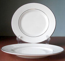 Vera Wang by Wedgwood Blanc Sur Blanc Set of 2 Bread & Butter Plates New