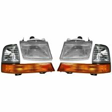 1998 1999 2000 FORD RANGER HEADLIGHT HEAD AND CORNER LAMPS LIGHTS COMBO