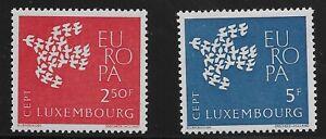 Luxembourg Scott #382-83, Singles 1961 Complete Set FVF MH