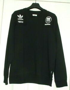 Adidas Originals Apparel x Neighborhood Commander Sweat Shirt Black Size Small