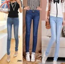 Polyester Faded Low Rise Jeans for Women