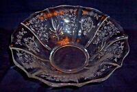 Fostoria Glass Baroque Etched Navarre Pattern Fruit Serving Bowl  - Minty