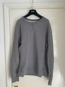 Levis Men's Grey Jumper Sweater Cotton Size Small Used