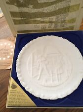 "Fenton Bicentennial White Plate 4th in the Series ""A Portrait of Liberty"" w/box"