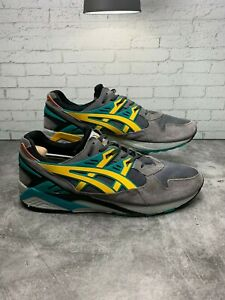 ASICS H502N 1159 GEL-KAYANO TRAINER Mn's (M) Grey/Gold Suede Athletic Shoe Sz 13
