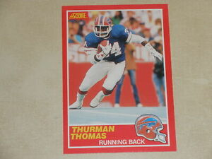 1989 Score Football #211 Thurman Thomas Rookie RC