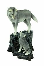 Guidance Wolf & Cub Statue by Lisa Parker