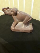 Boyd Glass Paperweight #2 Elephant mark B in diamond solid glass no lines