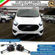 KIT FULL LED FORD TRANSIT TOURNEO CUSTOM H7 6000K BIANCO 9800 LUMEN CANBUS LED