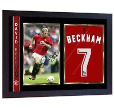 David Beckham Signed Photo Print Autographed Framed