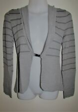 METALICUS Grey Striped Long Sleeve Cardigan One Size Small Medium Large S M L