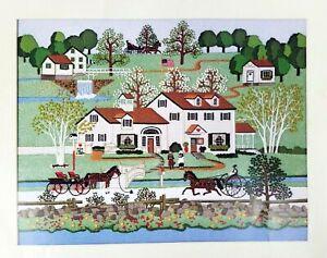 " Dimensions Crewel Stitchery ""Fox Hill Farm"" Charles Wysocki #1266"