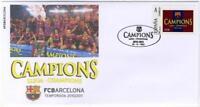 Sobre conmemorativo Champions FCBARCELONA fcb stamps Football  futbol Mesi